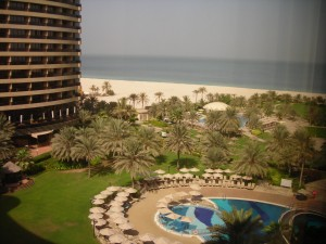 Our room view of the entirety of The Royal Meridien Resort