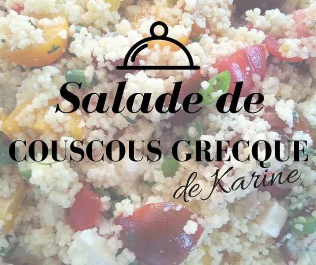 Salade de couscous grecque de karine