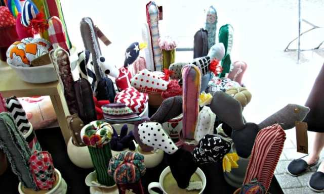 cactus décoratifs en tissu