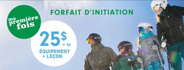 Initiation ski snow