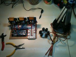Stewart platform wiring, incomplete