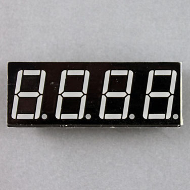 seven segment display, 4 digits