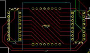 8x8 LED grid PCB