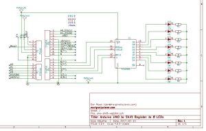 shift register kicad schematic layout