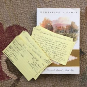 madeleine l'engle's summer of the great-grandmother (crosswicks book two) and yellow index cards