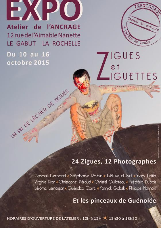 Affiche expo Zigues Gecko Production