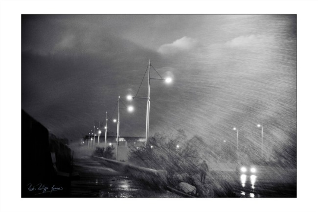 Philippe Monnois, Sous la pluie à La Rochelle
