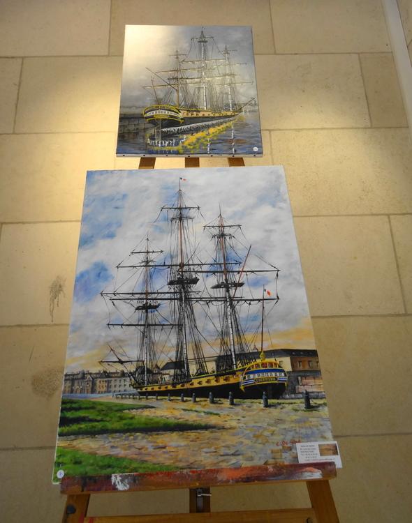Art et expositions en Gare de La Rochelle, Exposition de Carlos Da Silva Galerie Esquié La Rochelle du 2 au 8 septembre 2017