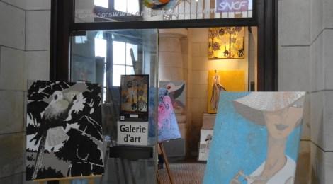 Art et expositions en Gare de La Rochelle, Exposition de Carole Goujon Galerie Esquié La Rochelle du 23 au 29 septembre 2017