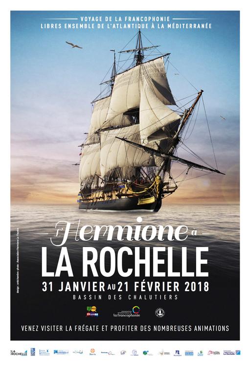 Affiche L'Hermione à La Rochelle
