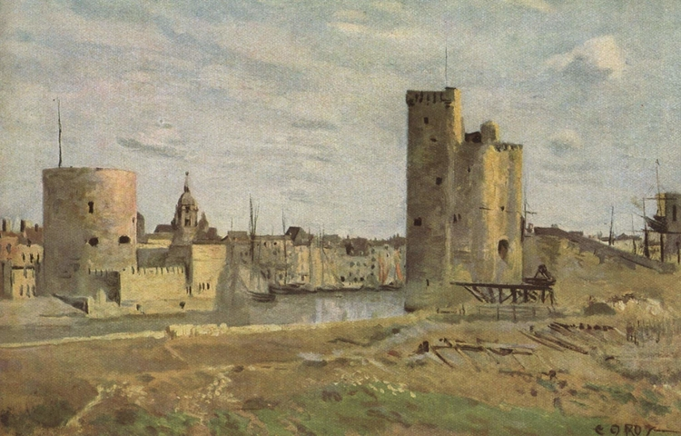 Entrée du port de La Rochelle - Jean Baptiste Camille Corot
