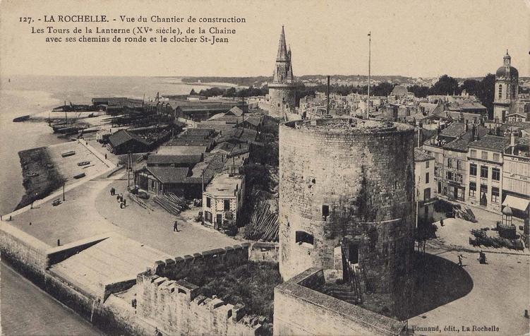travaux tour de la chaîne© archives municipales de la ville de La Rochelle