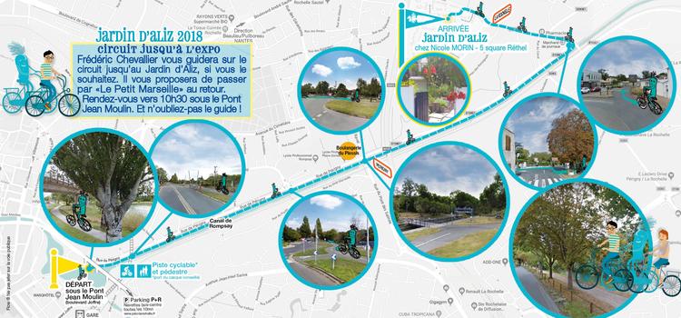 Jardin d'Aliz 2018 - Plan circuit vélo