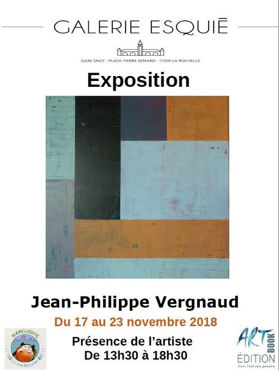 Art contemporain en gare de La Rochelle Jean Pierre Vergnaud du 17 au 23 novembre 2018
