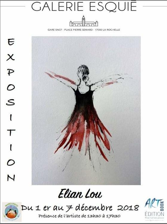 Art contemporain en gare de La Rochelle Exposition de Elian Lou Galerie Esquié La Rochelle du 1 au 7 décembre 2018
