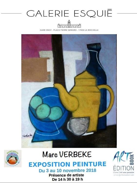 Art contemporain en gare de La Rochelle Exposition de Marc Verbeke Galerie Esquié La Rochelle du 3 au 10 novembre 2018