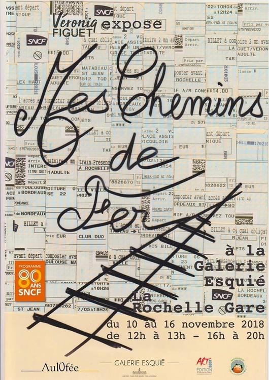 Art contemporain en gare de La Rochelle Exposition de Véronique Figuet Galerie Esquié La Rochelle du 10 au 16 novembre 2018