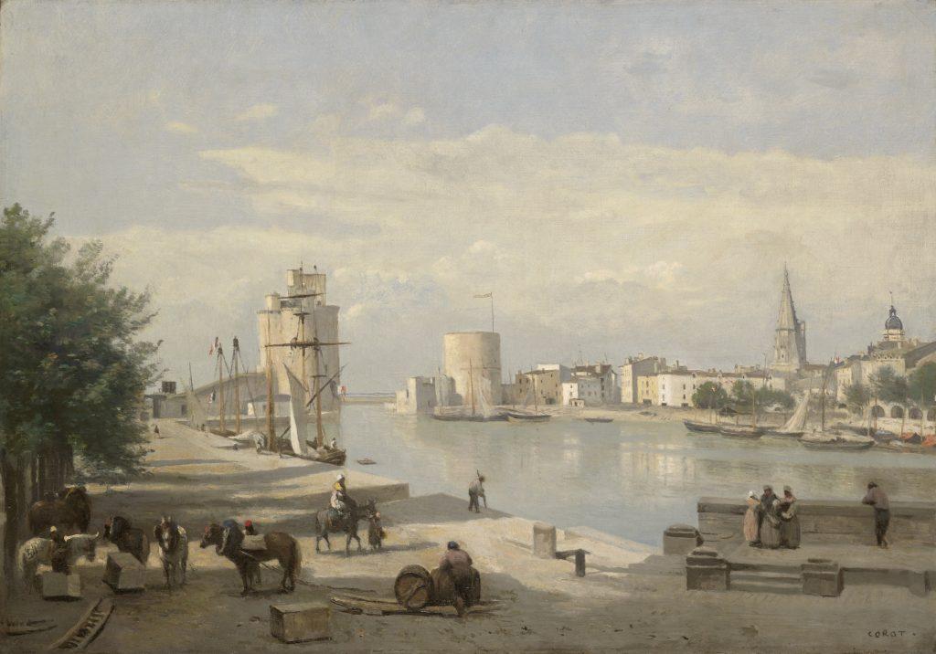 Le port de La Rochelle - Jean Baptiste Camille Corot