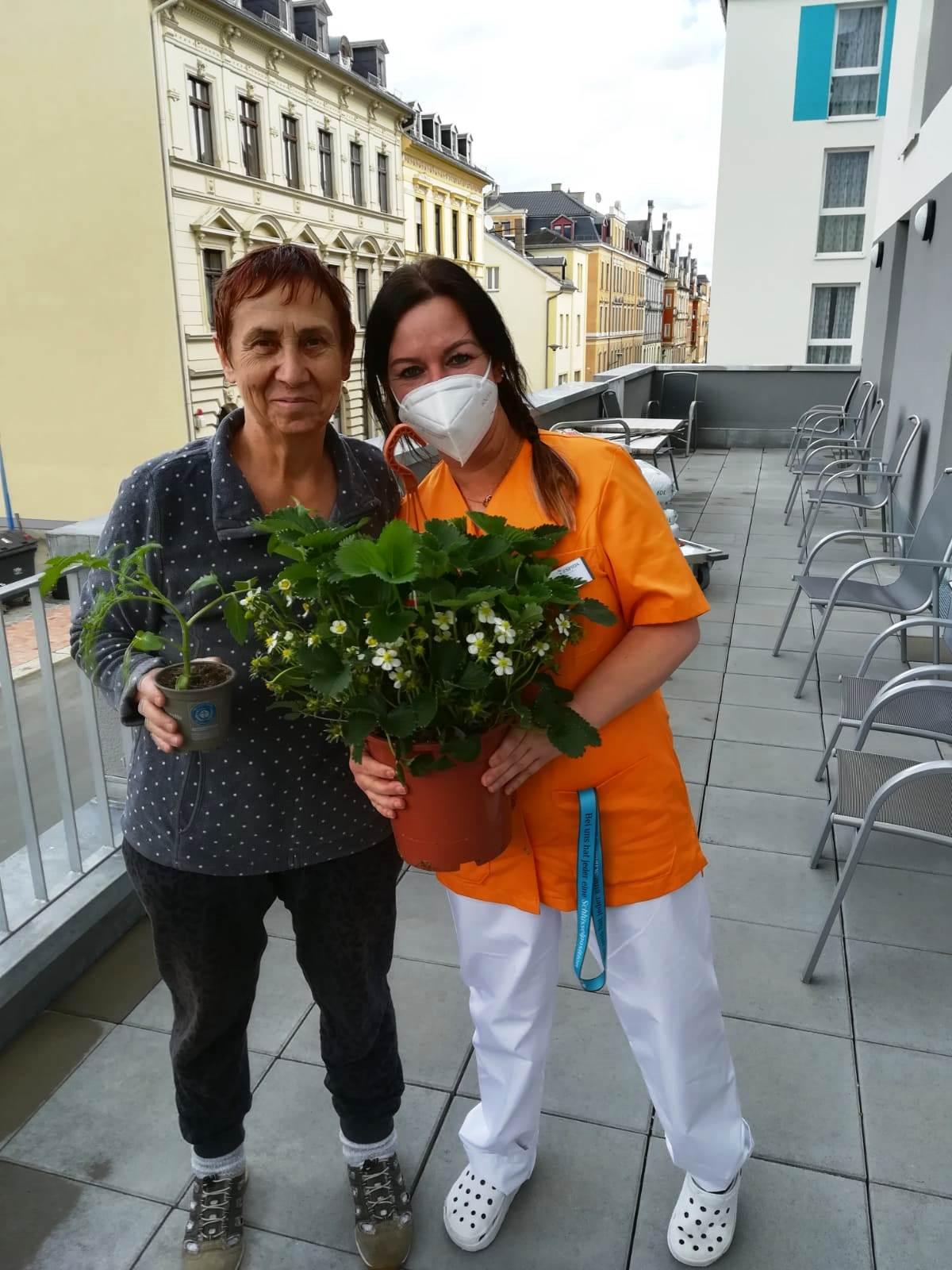 Die Gärtner sind unter uns im ASPIDA Pflegecampus Plauen 2021-05-15