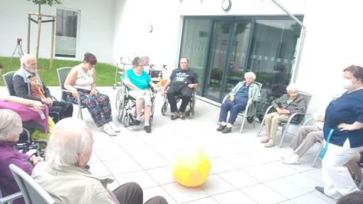 Sitzsport im ASPIDA Pflegecampus Plauen 2