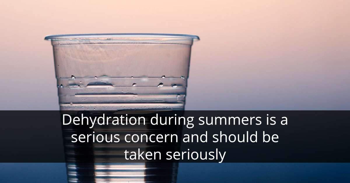 Stay Hydrated in Summers