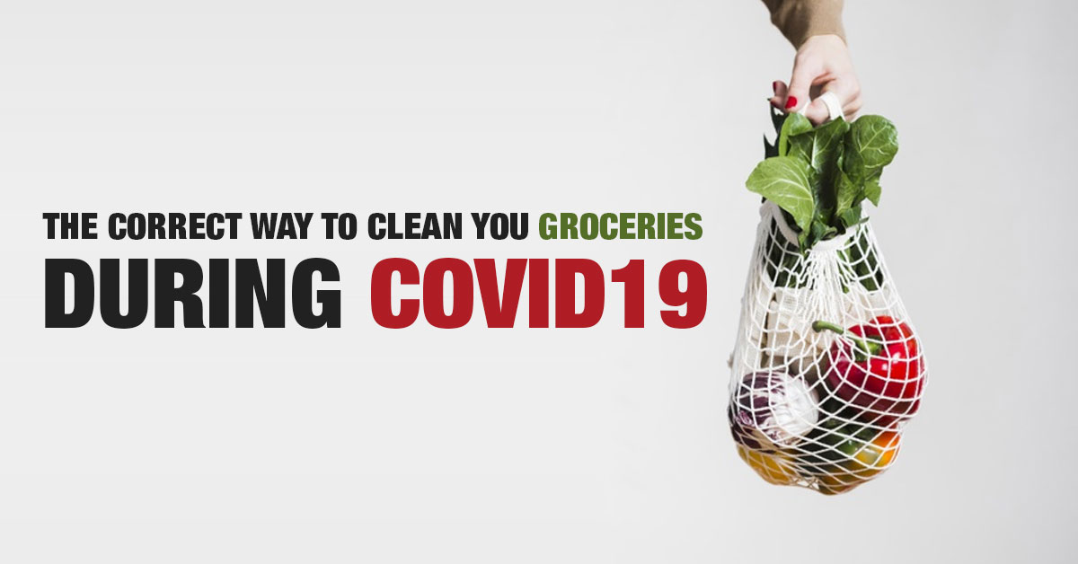 Disinfect groceries