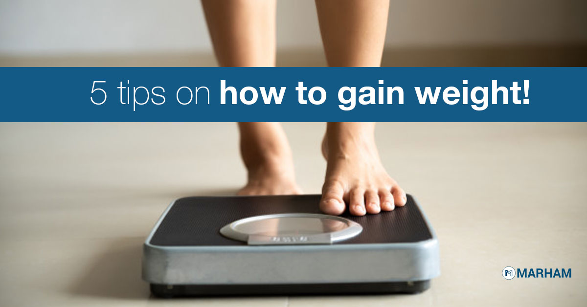 5 tips on how to gain weight.