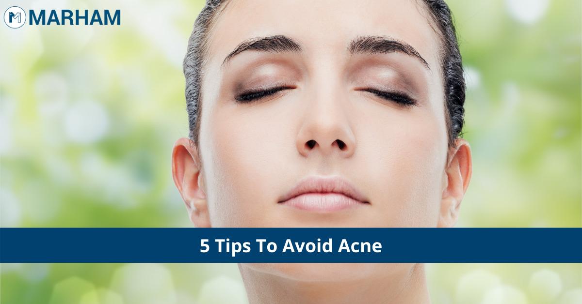 avoid acne