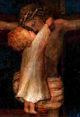 Resultado de imagen de niño besando al cristo crucificado