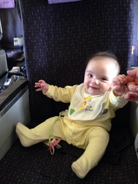 Elisa in plane