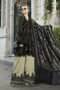 Maria B Online DL-806-Black and Beige Linen Collection 2020