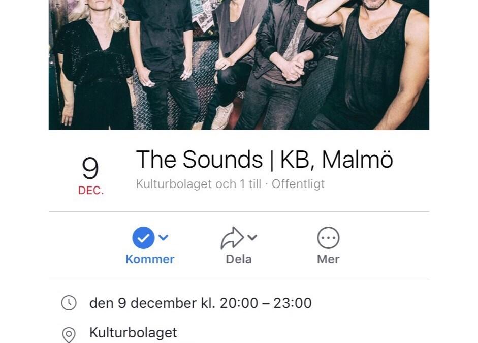 The Sounds på KB i Malmö bokat!
