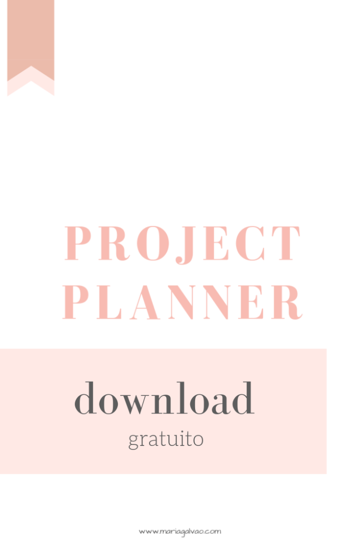 Project planner para download gratuito_Pinterest