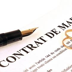 Contrats de mariage