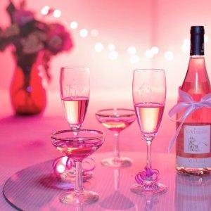 champagne pour sa reception de mariage