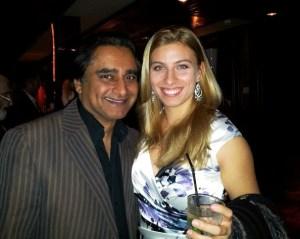 Here I am with Sanjeev Bhaskar.