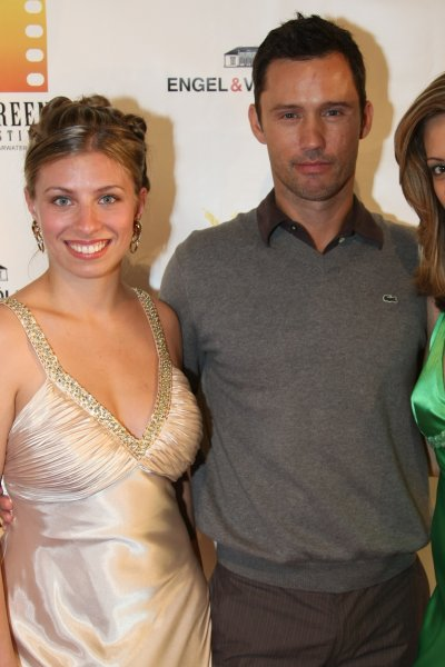 Mariah June standing with actor Jeffrey Donovan from the television show Burn Notice at the 2009 Sunscreen Film Festival in St. Petersburg, Florida