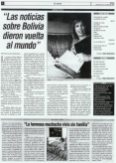 Reseña en el periódico El Norte- Bolivia octubre 22 de 2003.