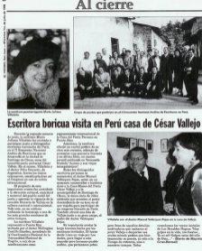 Reseña del Periódico El Vocero de San Juan, Puerto Rico (1ro de julio de 1998)