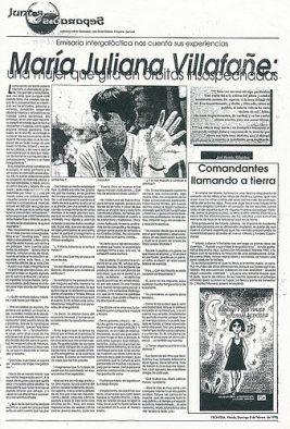 Reseña libro Aurora y sus Viajes Intergalácticos (primera edición) , periódico Frontera, Mérida, Venezuela (1998)