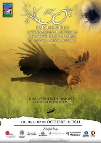 Afiche Encuentro de Poetas Oscar Guinazú Álvarez HR