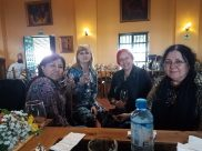 Eliana Vázquez Colichón,Maria Caballero, Marita Troiano y Marie-Madelaine Gladieu