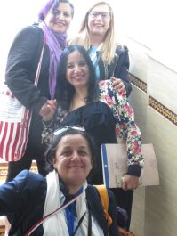 Tina Escaja, Célia Vázquez,Oulaya Drissi El Bouzaidi y Amel Bachiri
