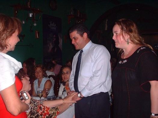 Como parte del Encuentro se ofrecieron varios documentales. En ésta noche se dió el documental de Clara Lair en una cena donde el Alcalde de San Juan, Santini, saluda a las escritoras.