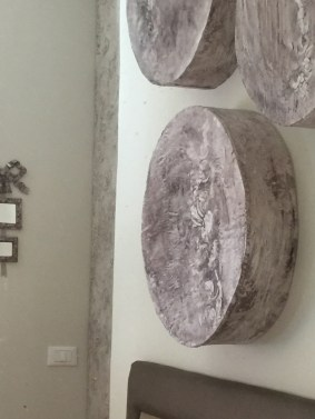 Applique tamburo in resina
