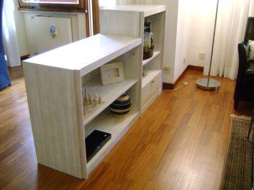 Il bianco il colore scelto nella zona salotto