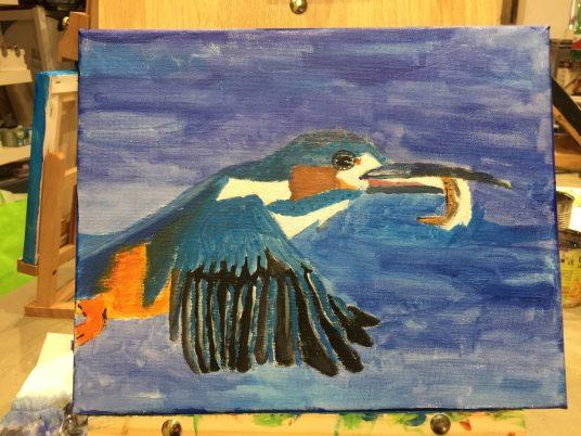 Acrilico su tela colori corso pittura bambini L. 9 anni