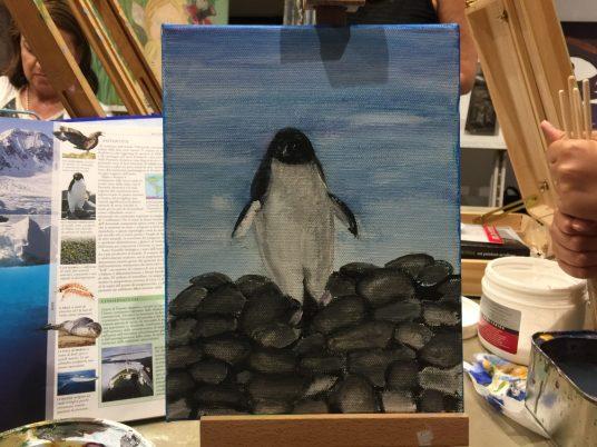 Acrilico su tela corso pittura bambini S. 8 anni