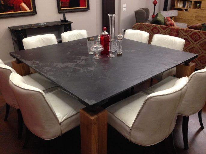 Rivestimento in resina tavolo effetto ardesia