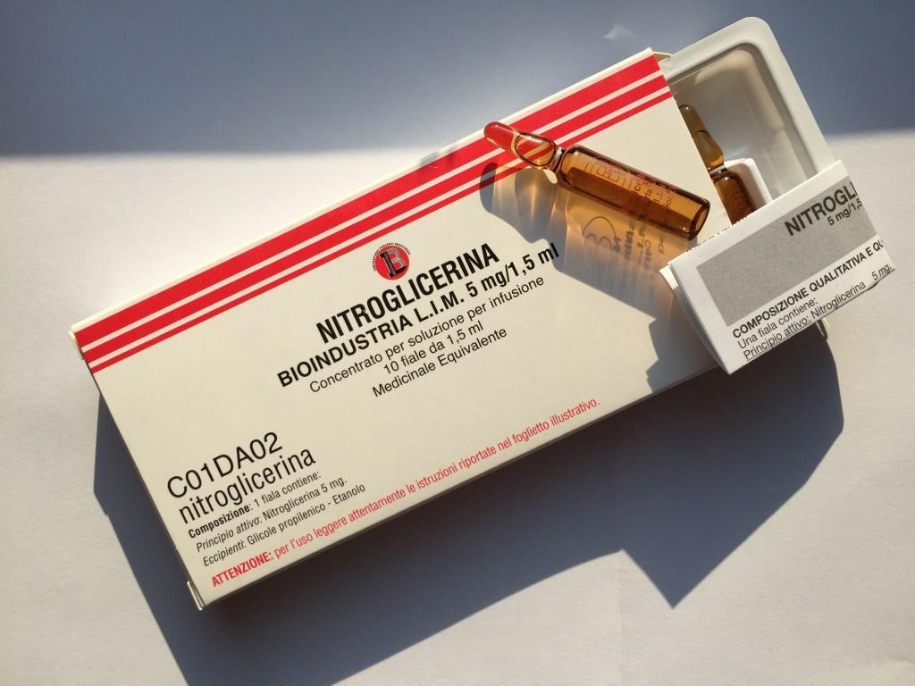 nitroglicerina fiale 5mg/1,5ml